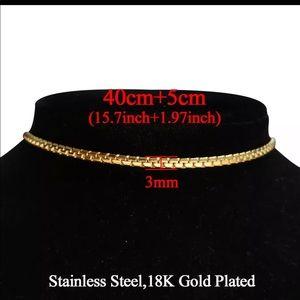 Gold plated choker